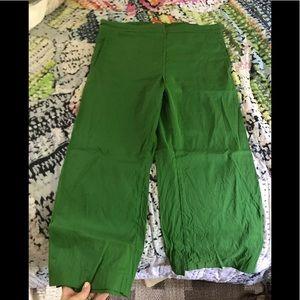 Cartonniere Anthropologie linen blend crop pants L